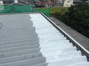 太田市台ノ郷でセッパン屋根の洗浄完了