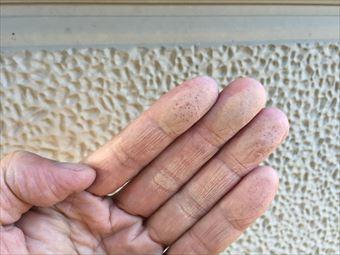 吾妻郡長野原町K様邸外壁塗装工事チョーキング