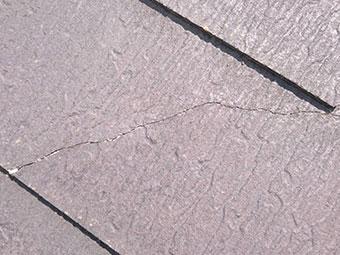 屋根スレート ひび割れ