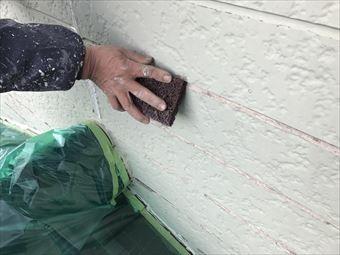 みどり市笠懸町外壁塗装前のケレン作業
