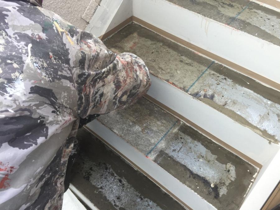 前橋市三河町マンション階段防水工事4