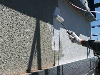藤岡市 モルタル壁下塗り