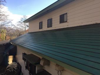 片品村平葺きトタン屋根(下屋根)