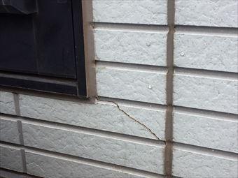 伊勢崎市末広町外壁のひび割れ