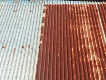 トタン屋根サビ