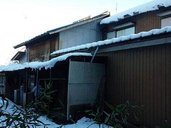 群馬 渋川 屋根積雪