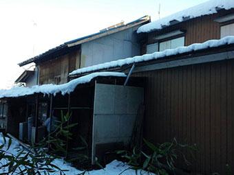 沼田市利根町で雪が原因!雨どいと波板の破損状況を調査してきました