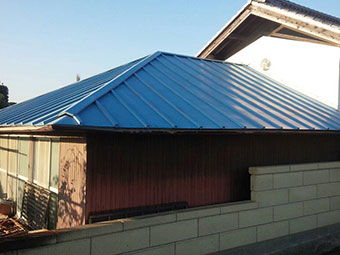 群馬 トタン屋根塗装工事 現場調査