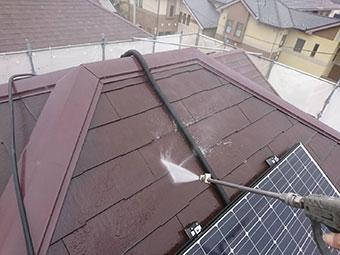 藤岡市 屋根高圧洗浄