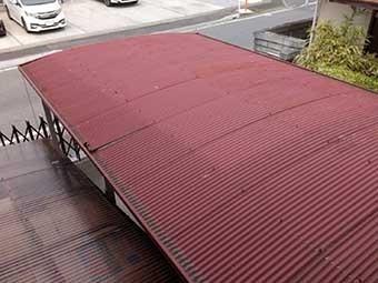 駐車場屋根塗装