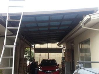 駐車スペース屋根