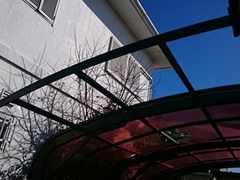 太田市飯田町破損したカーポート屋根