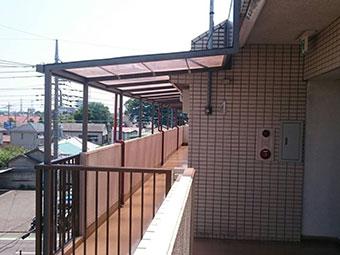 前橋市岩神町マンション2階テラス