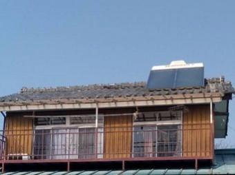高崎市下里見町屋根と温水器