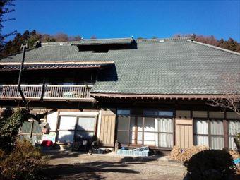沼田市利根町金属瓦のお宅の施工前全体写真