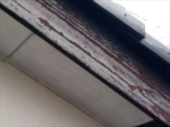 前橋市緑が丘破風板の塗装のはがれ