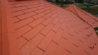 高崎市貝沢町で六角形の屋根のお宅で屋根塗装完了