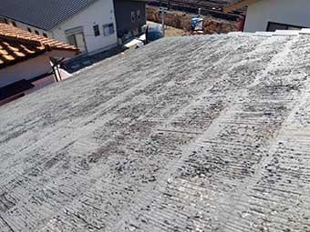 前橋市昭和町屋根材の劣化状態