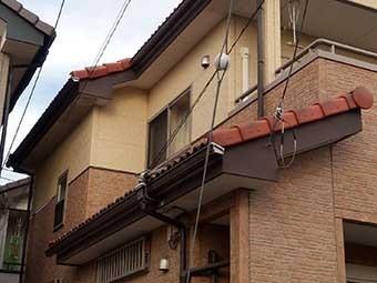 屋根瓦補修調査