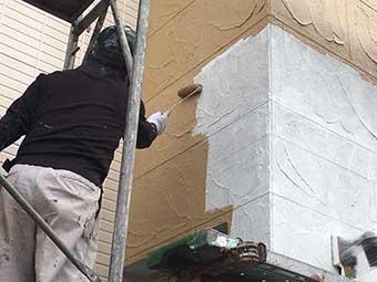 高崎市正観寺町 外壁中塗り