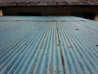 甘楽郡下仁田町A様邸屋根塗装前トタン部分