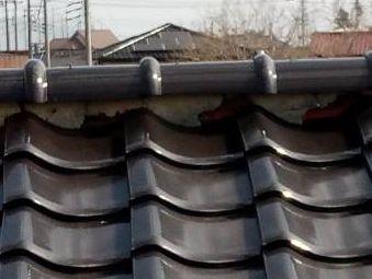 前橋市龍蔵寺アパート屋根漆喰の剥がれ