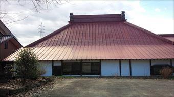 前橋市富士見町昌福寺様邸屋根塗装工事2