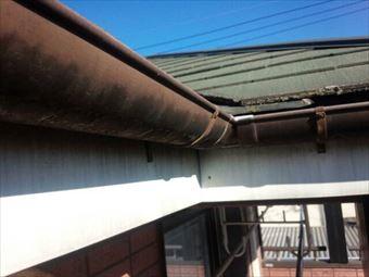 前橋市鳥取町雨樋の状態