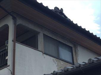 外壁の部分補修と軒天上の塗装、小さな工事もお任せください|高崎市箕郷町