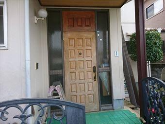 前橋市富士見町玄関扉塗装前