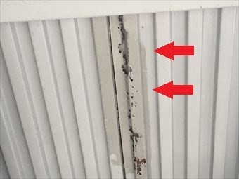 前橋市朝倉町K様金属外壁の劣化