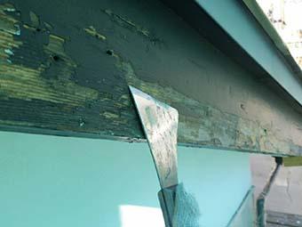 吉岡町 屋根、外壁塗装工事 破風板ケレン