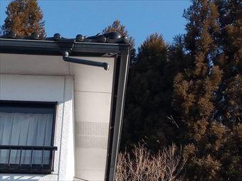 前橋市富士見町破損した雨どい
