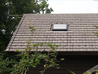吾妻郡長野原別荘屋根の天窓