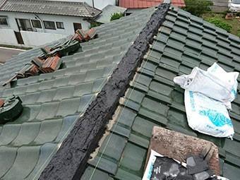 前橋市富士見町 のし瓦積み 南蛮漆喰