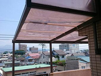 前橋市岩神町マンション2階テラス天井修理完成