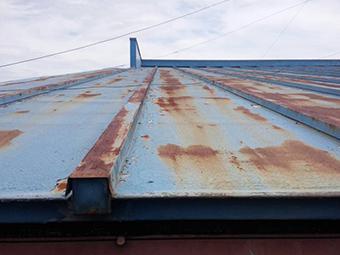 トタン屋根錆