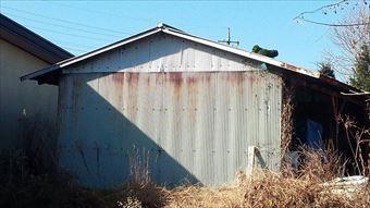 渋川市赤城町建物外壁さび