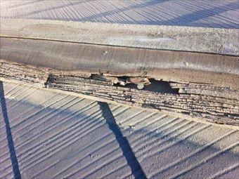 桐生市新里町K様邸屋根傷んだ貫板