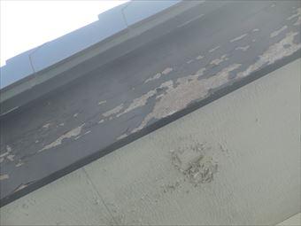 北群馬郡榛東村破風板の塗装のはがれ