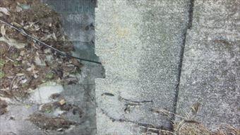 吾妻郡長野原町屋根材の破損