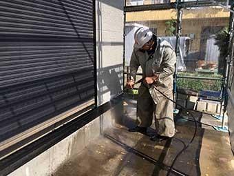 外壁洗浄作業