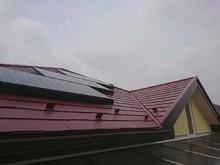 藤岡市 屋根塗装上塗り完成