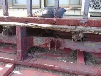 安中市松井田町ベランダ鉄部の腐食