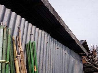 前橋市富士見町作業小屋外壁