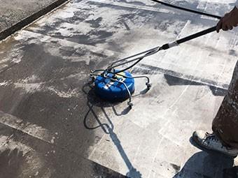 前橋市 ビル屋上防水工事 高圧洗浄