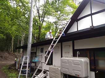 北軽井沢Y様邸屋根雨漏り調査2