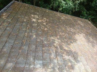 吾妻郡嬬恋村別荘劣化したコロニアル屋根