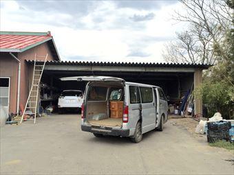 伊勢崎市市場町F様邸車庫兼物置塗装前