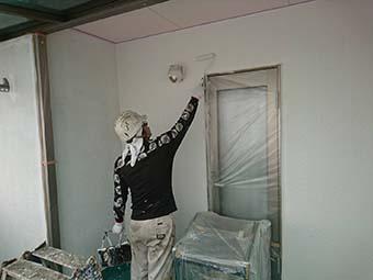 藤岡市 外壁中塗り